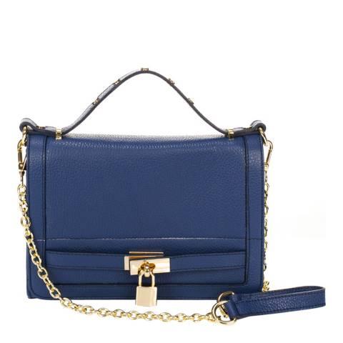 Giorgio Costa Blue Leather Crossbody Bag