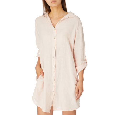 Alexandre Laurent Pale Pink Rustic Finish Linen Tunic/Shirt