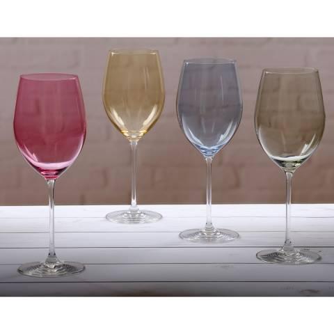 Ella Sabatini Set of 4 Colore Wine Glasses, 580ml