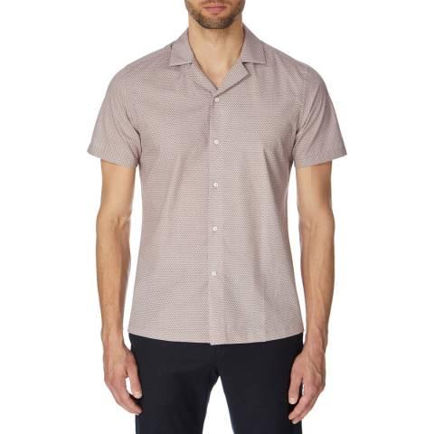 Reiss Multi Fleet Cotton Short Sleeve Shirt