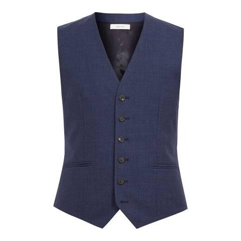 Reiss Blue Rover Slim Waistcoat
