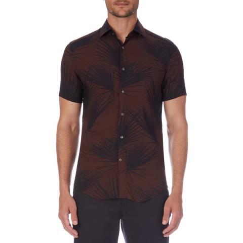 Reiss Multi Havana Cotton Shirt