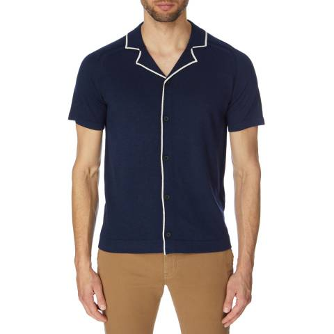 Reiss Blue Acre Short Sleeved Shirt