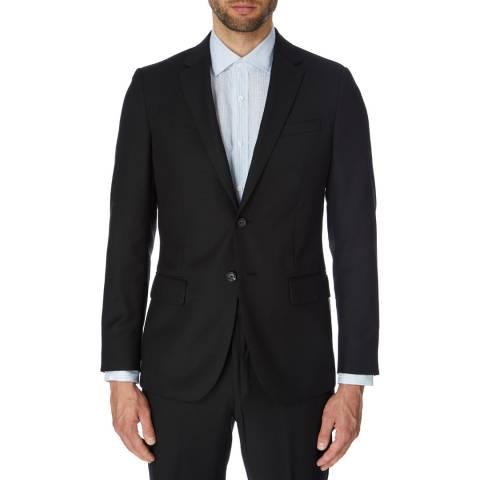Reiss Black Textured Bravo Suit Jacket