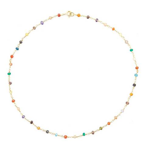 Liv Oliver Multi Gemstone Necklace