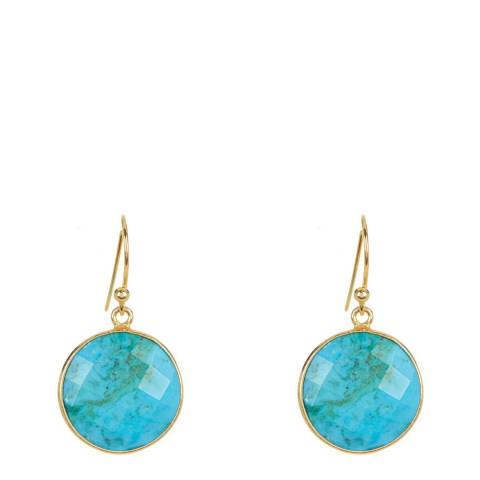 Liv Oliver Turquoise Disc Earrings