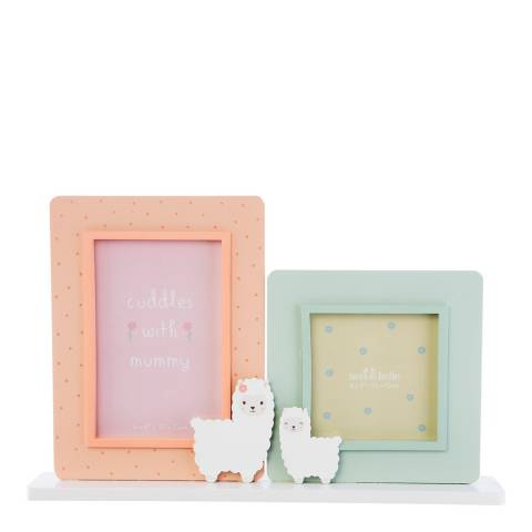 Sass & Belle Little Llama Mummy Cuddles Double Photo Frame