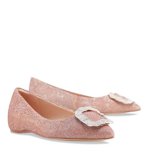 Aldo Light Pink Textile Umireni Flat Shoe