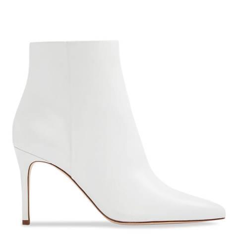 Aldo White Leather Wiema Ankle Boot