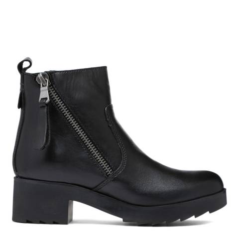 Aldo Black Leather Ysolonna Ankle Boot