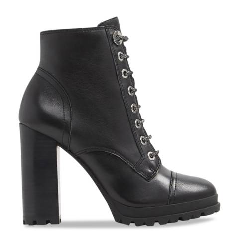Aldo Black Multi Leather Marille Ankle Boot