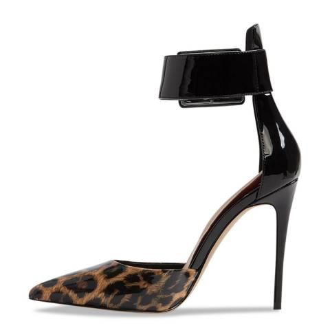 Aldo Black Leopard Synthetic Onaedia Heeled Shoe