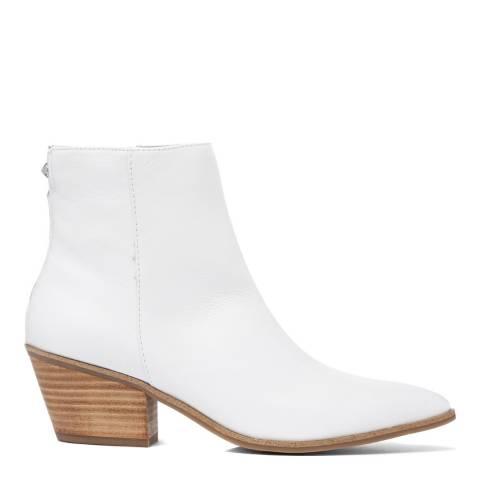 Aldo White Leather Dreliwia Ankle Boot
