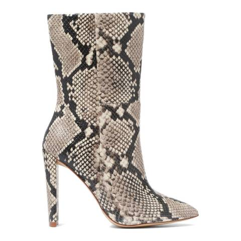 Aldo Snake Print Natural Leather Schuler Long Boot