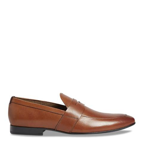 Aldo Cognac Leather Etianna Loafer