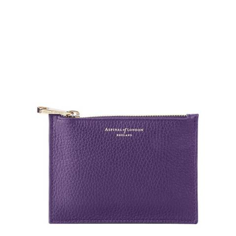 Aspinal of London Amethyst Pebble Small Essential Flat Pouch