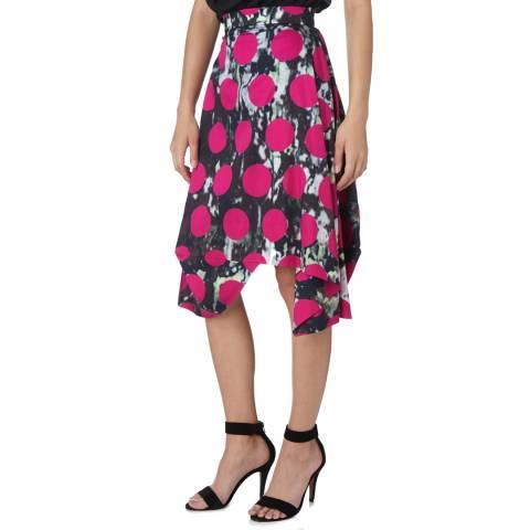 Vivienne Westwood Fuchsia Aztec Polka Skirt