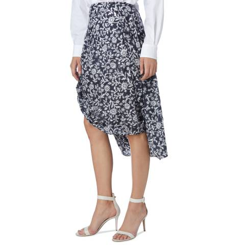Vivienne Westwood Navy Bandana Flower Eight Skirt