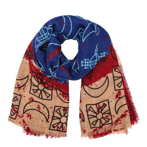 Vivienne Westwood Multi Sun and Moon Doodle Stole