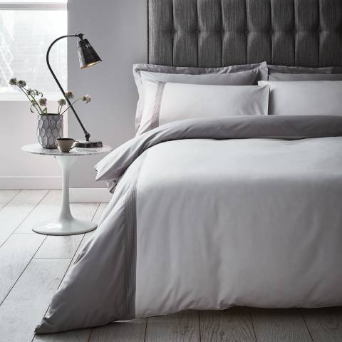 Content by Terence Conran Pintuck Double Duvet Cover Set