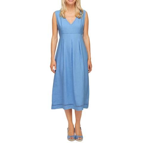 Aspiga Powder Blue Elenor Linen Midi Dress