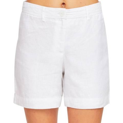 Aspiga White Marisa Linen Shorts