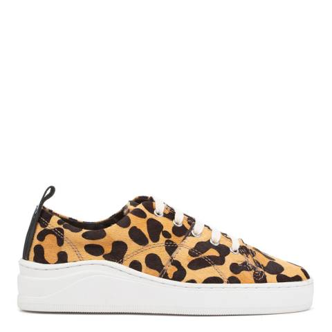 Hudson London Leopard Pony Hair Sierra Trainers