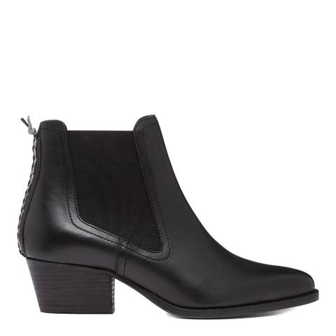 Hudson London Black Avery Leather Ankle Boot