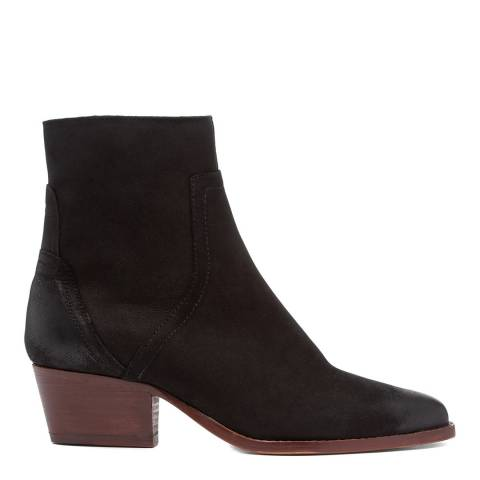 H by Hudson Black Beryl Nubuck Leather Ankle Boot