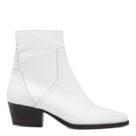 Hudson London White Beryl Leather Ankle Boot