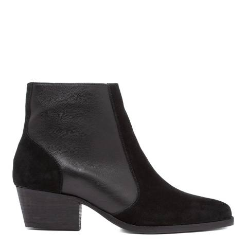 H by Hudson Black Hedemann Suede Ankle Boot