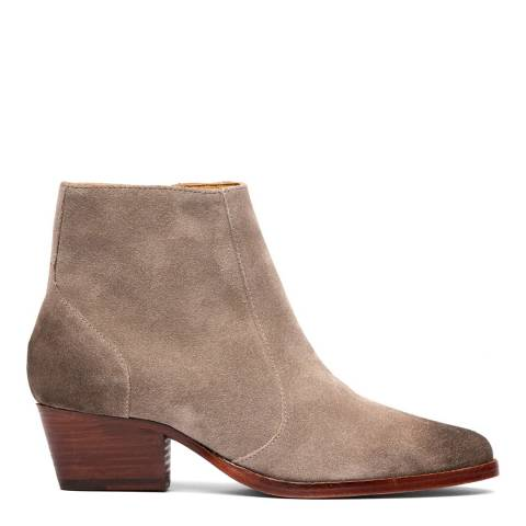 H by Hudson Taupe Hedemann Suede Ankle Boot