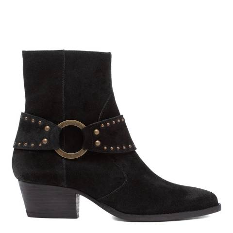Hudson London Black Rodeo Suede Ankle Boot
