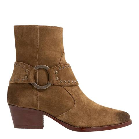 H by Hudson Caramel Rodeo Suede Ankle Boot