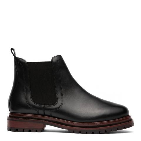 H by Hudson Black Wisty Leather Chelsea Boot