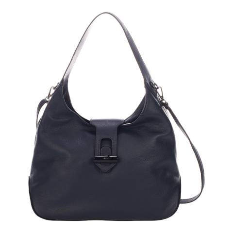 Lisa Minardi Blue Leather Shoulder Bag