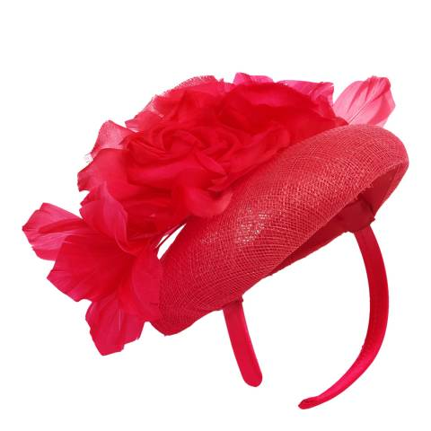 Phase Eight Chelsey Fascinator Raspberry