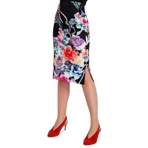 BGN Black Patterned Jersey Skirt