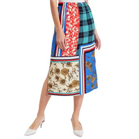 BGN Multicolour Patchwork Patterned Skirt