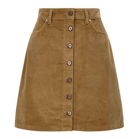 Baukjen Camel Corduroy Maretta Skirt