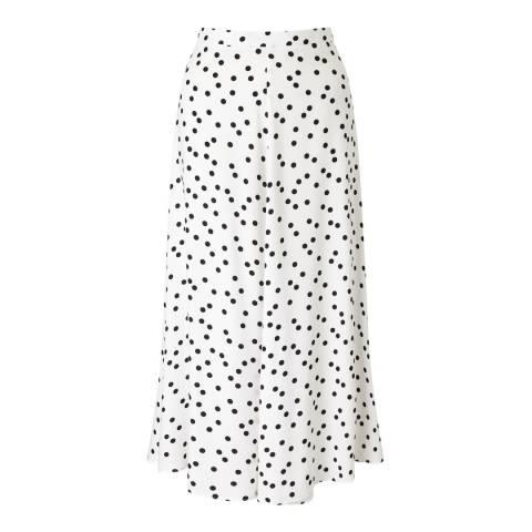 Baukjen White & Black Polka Crepe Annabelle Skirt