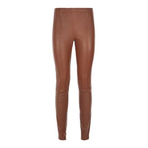 Baukjen Chestnut Liv Leather Leggings