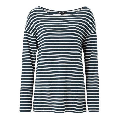 Baukjen Military Green & White Stripe Remi Relaxed Top