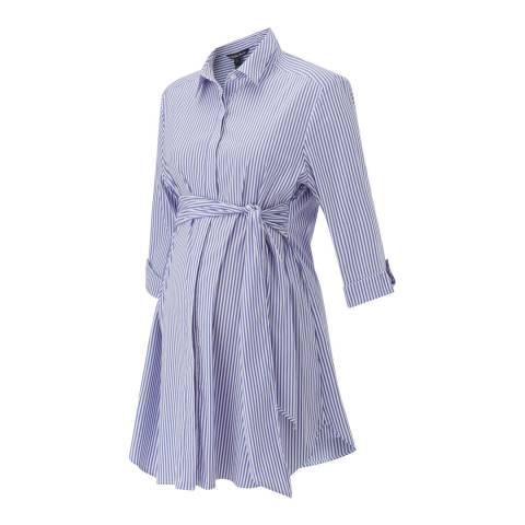 Isabella Oliver Blue & White Stripe Dora Maternity Shirt