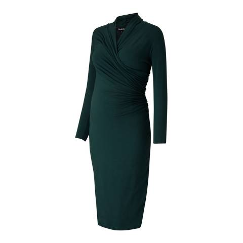 Isabella Oliver Military Green Balcombe Maternity Dress