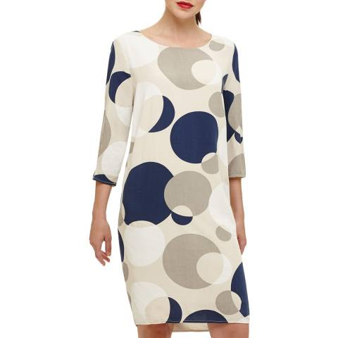 Phase Eight Ivory Diletta Spot Dress
