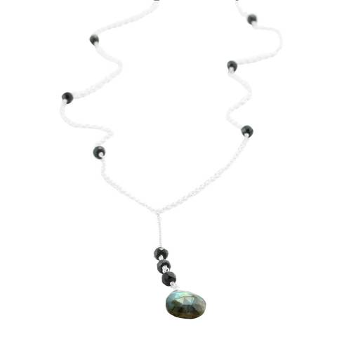 Banyan Jewellery Labradorite and Black Onyx Necklace