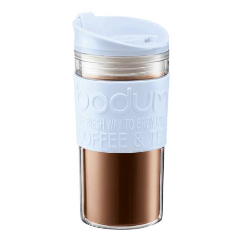 Bodum Blue Moon Insulated Double Wall Plastic Travel Mug, 350ml