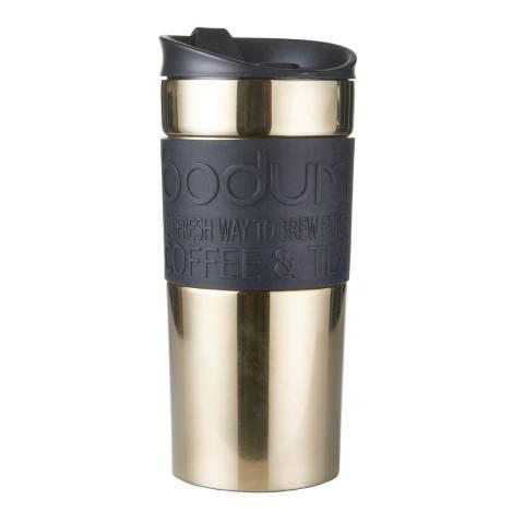 Bodum Gold Double Wall Stainless Steel Travel Mug, 350ml