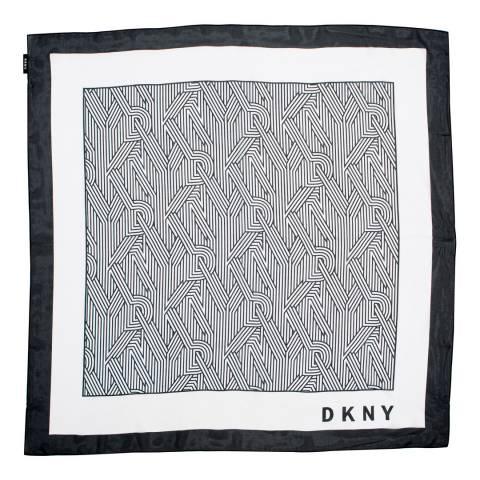 DKNY Monochrome Crosswalk Logo Scarf